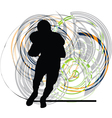 American football player in action vector image vector image