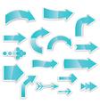 arrows blue vector image vector image