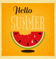 summer time retro square poster vector image