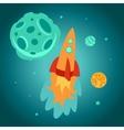 cartoon space rocket vector image