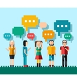 Social people concept vector image vector image
