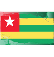togo national flag vector image vector image