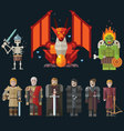 Different characters for the game vector image