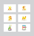 Alphabet letter icon logo set vector image