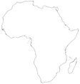 Outline map of Africa vector image vector image