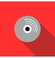 Blank CD icon flat style vector image