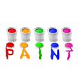 cans of paint vector image