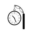 clock old black vector image