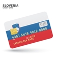 Credit card with Slovenia flag background for bank vector image