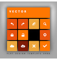 design flat shadow orange vector image