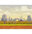 Fantasy seamless nature landscape vector image