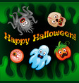 halloween night blurred background vector image