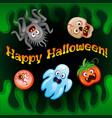 halloween night blurred background vector image