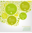 Leaf infographic vector image