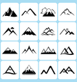 Mountains icons set vector image