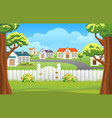 outdoor backyard background cartoon vector image