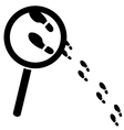 Searching for clues vector image