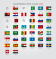 set of sovereign state flags o-s vector image