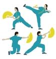 Wushu vector image