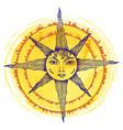 a sun vector image vector image