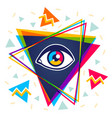 pyramid and eye vector image vector image