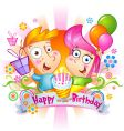Birthday congratulations Vector Image
