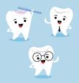 Dental characters vector image