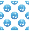 Sixteenth note sign pattern vector image