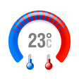 Thermometer vector image
