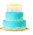 Wedding Cake Realistic vector image vector image