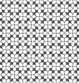 Monochrome seamless flower pattern in oriental vector image vector image