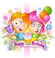 Birthday congratulations vector image