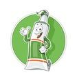 Cartoon tooth pasta tube show okay vector image
