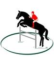 Equestrian sport-1 vector image