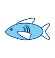 fish cartoon isolated vector image
