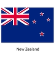 Flag of the country new zeland vector image