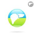 Liver organ icon vector image
