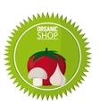 Organic shop design vector image