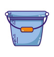 pail plastic object to clean house vector image