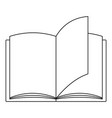 paper book icon outline style vector image
