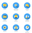 Set of Flat Design SEO Icons Growth Search Engine vector image