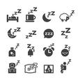 sleeping icon vector image