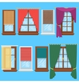 Window curtains and blinds set vector image