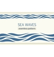 Seamless patterns with stylized sea waves vector image
