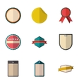 Types tag icons set flat style vector image vector image
