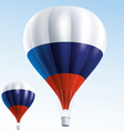 Hot balloons painted as Russian flag vector image