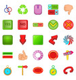 yes and no icons set cartoon style vector image