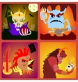 evil Icons in flat style for web and mobile vector image
