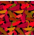 Grunge autumn pattern with fern leafs vector image