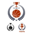 Basketball sporting emblems and symbols vector image vector image